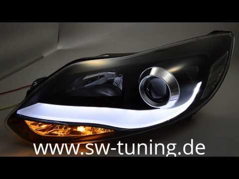 sw ltube scheinwerfer ford focus mk3 mit led lighttube. Black Bedroom Furniture Sets. Home Design Ideas