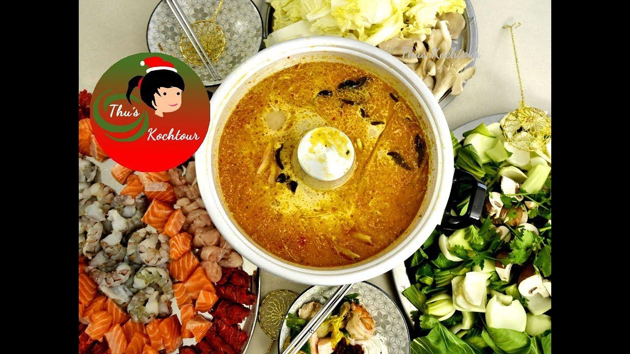 Asia hot pot asia fondue rezept youtube
