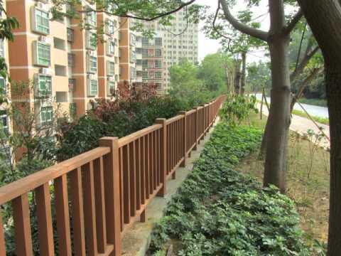 factory direct wood plastic  fence panels