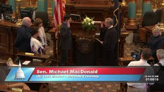 Sen. MacDonald sworn in as Michigan senator
