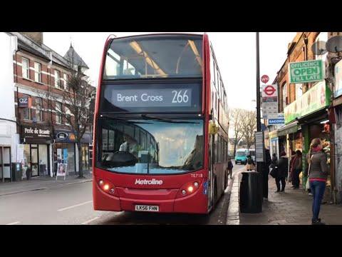 *Front View* London Bus Route 266 - TE718 Enviro 400 Metroline