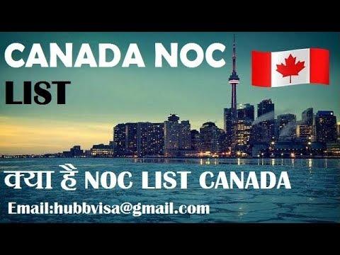 CANADA NOC LIST