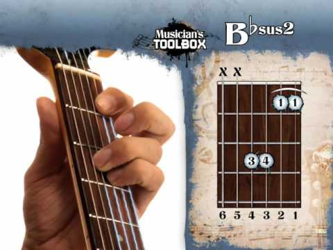 How to play the Bb sus 2 chord on guitar Bbsus2
