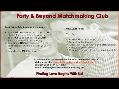 matchmaking for older singles