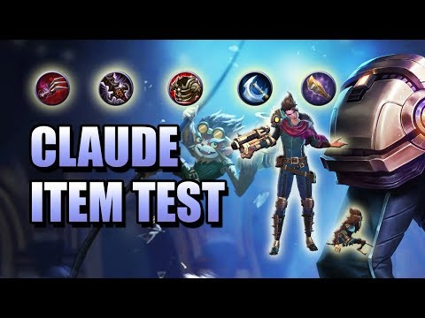 CLAUDE ITEM TEST - WHAT BUILD IS BEST FOR CLAUDE? - MOBILE LEGENDS