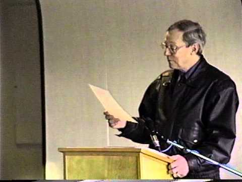 Bill Schermbrucker reads at Capilano College in 1996