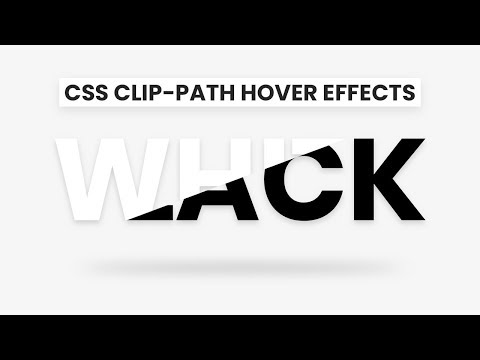 CSS Clip-Path Text Hover Effects | Html CSS