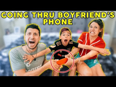 My GIRLFRIEND REACTS To My CAMERA ROLL *Bad Idea* | The Royalty Family