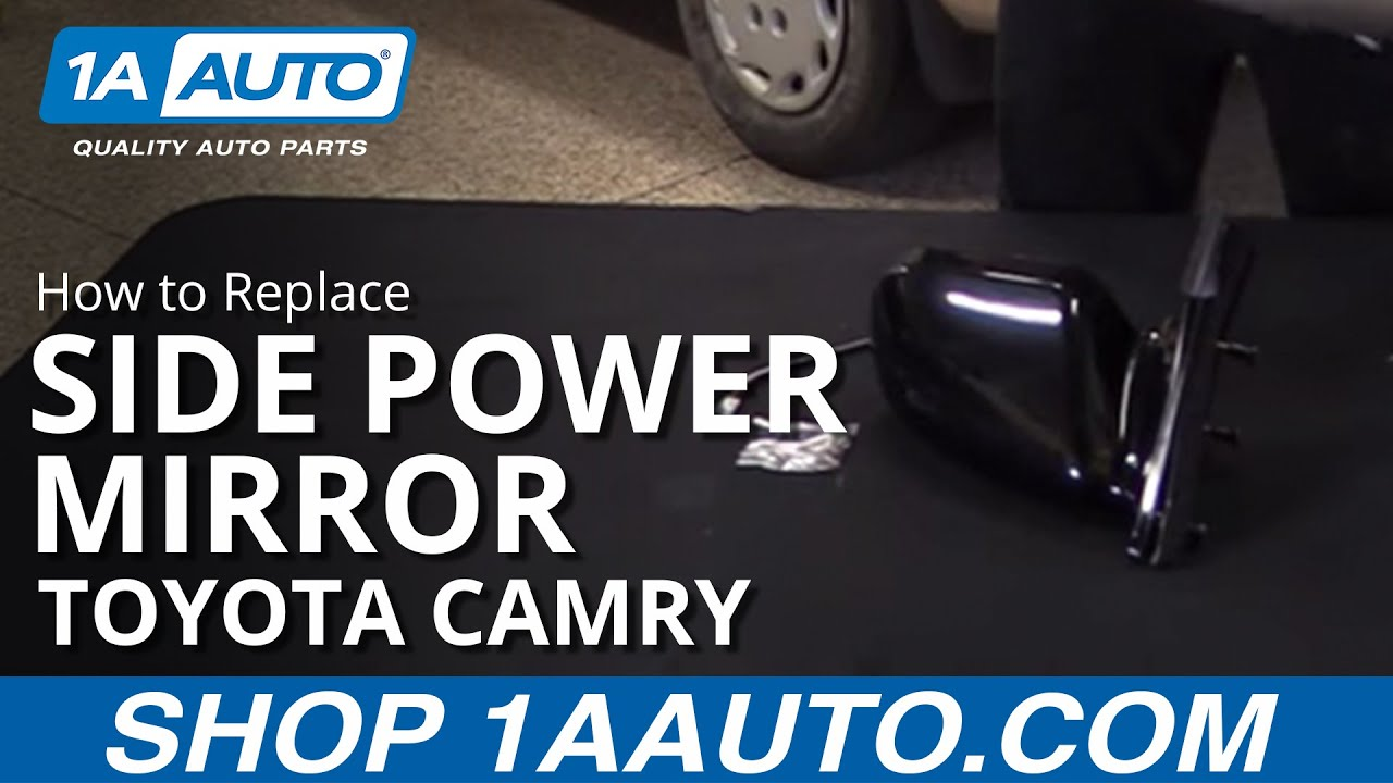 how to replace install side power mirror 97 01 toyota camry [ 1280 x 720 Pixel ]
