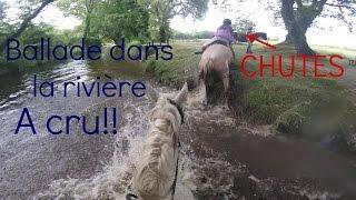 [cours GoPro] ballade dans la rivière à cru CHUTES♥ pantalons trempés