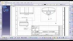 Mise en plan avec CATIA V5 creating drawings