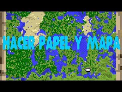 Como Hacer Papel Y Mapa En Minecraft Tutorial Para Novatos