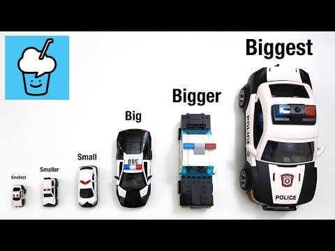 Learning size for kids with police car lego playmobil tomica トミカ
