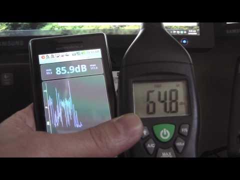 Droid DeciBel App Vs Extech Sound Meter