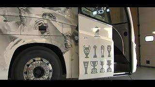 Real Madrid luxury bus Irizar i8 - Bus verdadero lujo-  Irizar i8