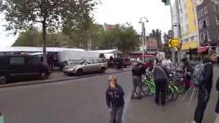 Cycling in Amsterdam. [HD]