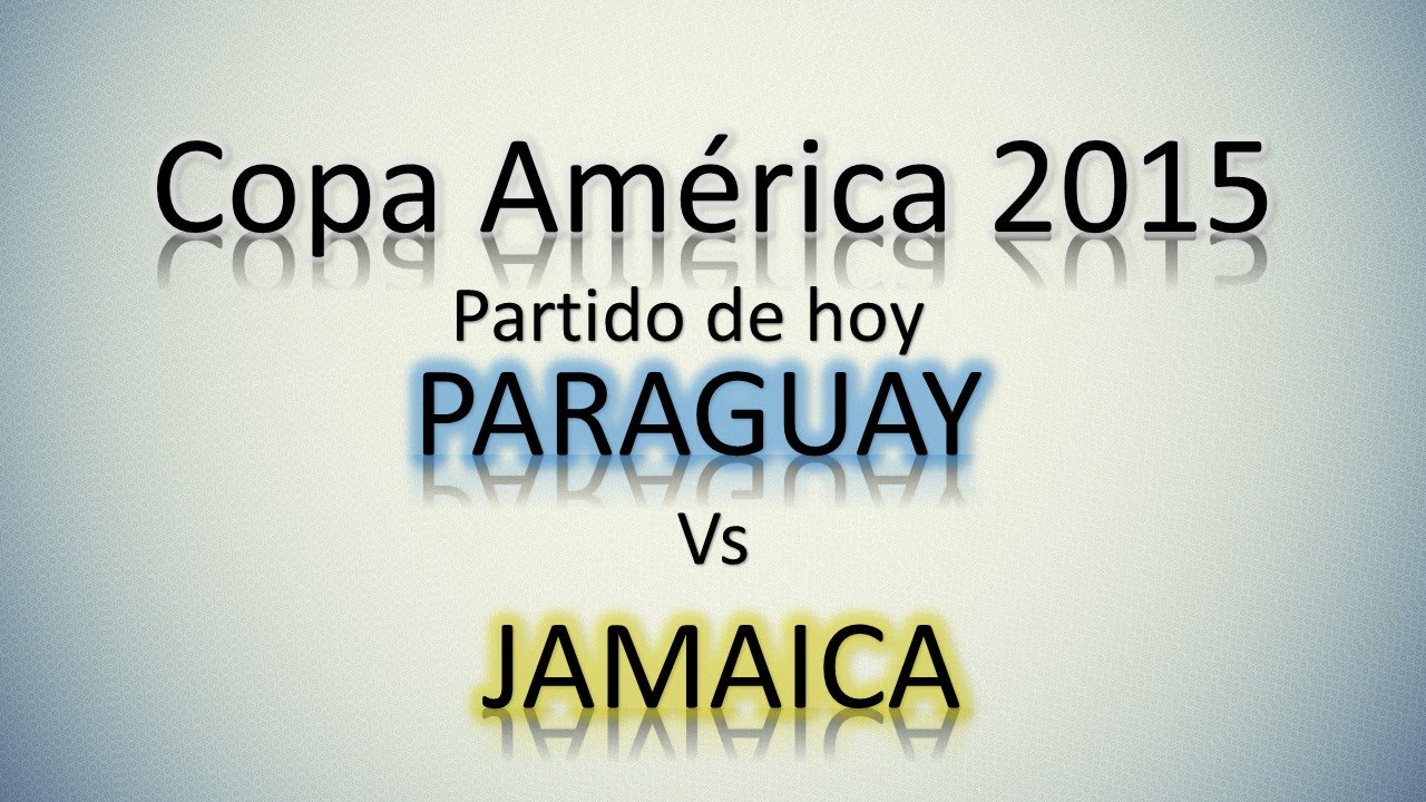 ... Paraguay - Jamaica | Partidos De Hoy | Grupo B | Utilisimo - YouTube