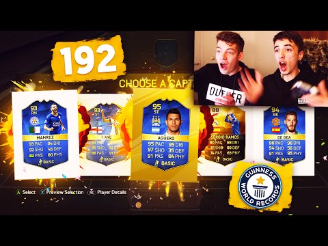 THE TOTS 192 WORLD RECORD FUT DRAFT ATTEMPT!!! - FIFA 16 FUT DRAFT