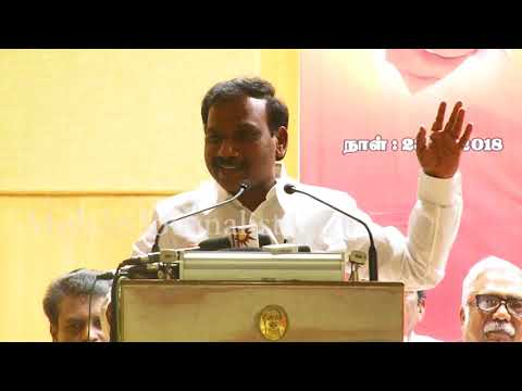 """""""DMK came up with social and human literature, A.Raja Speech 