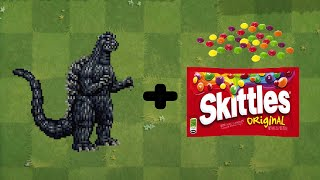 (Godzilla + Skittles Meme) Fusion Plants Vs Zombies Animation
