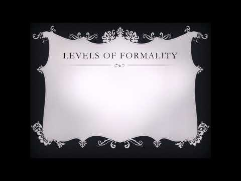 Podcast 1 - Tone and Formality
