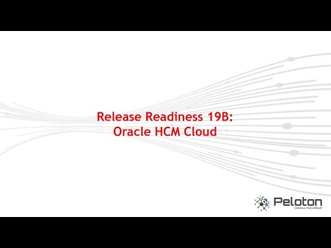 Release Readiness 19B: Oracle HCM Cloud