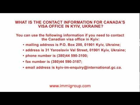 What is the contact information for Canada's visa office in