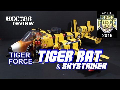 HCC788 - 1988 Tiger Force TIGER RAT & SKYSTRIKER - Vintage G.I. Joe TIGER FORCE MONTH!