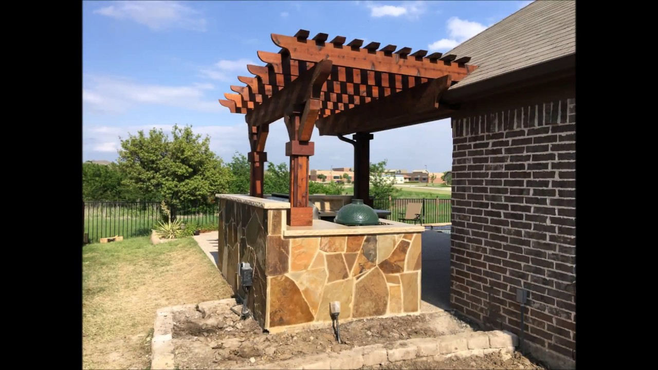 Pergola   Outdoor Kitchen   YouTube Pergola   Outdoor Kitchen