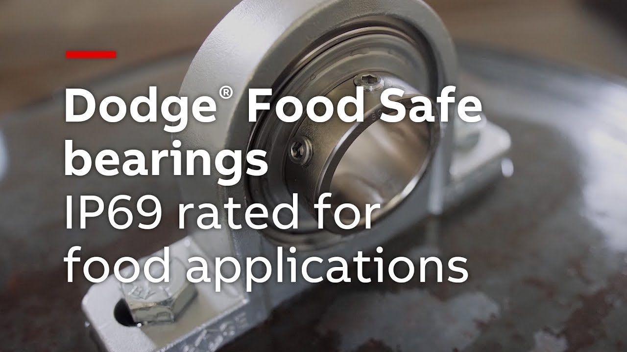 Dodge Food Safe bearings - IP69 rated for performance in