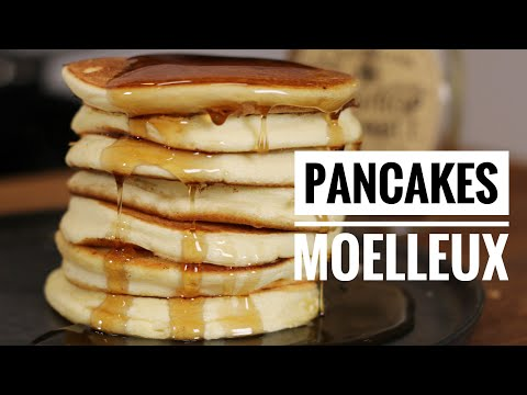 recette facile des pancakes moelleux par herv cuisine youtube. Black Bedroom Furniture Sets. Home Design Ideas