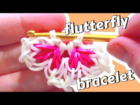 Flutterfly Bracelet Tutorial - Hook Only - Rainbow Loom - Original Design