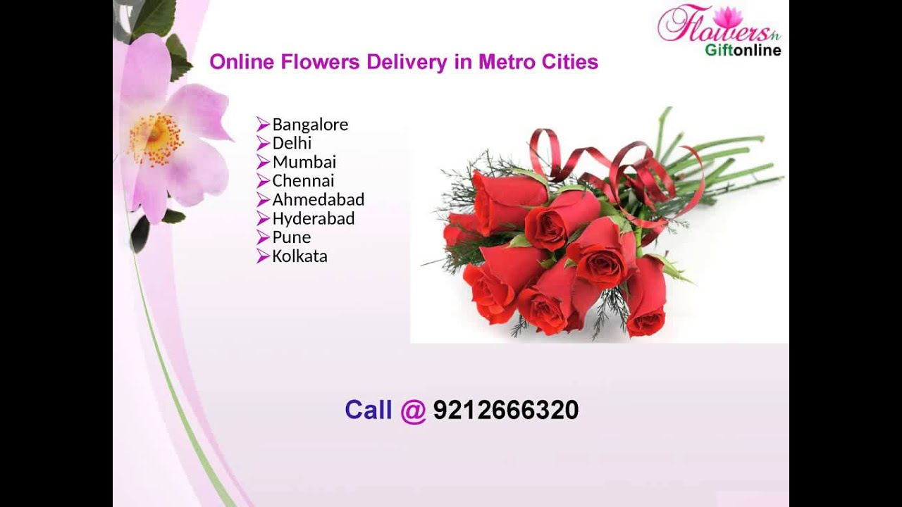 Send Flowers to Bangalore - Online Delivery - Flowersngiftonline ...