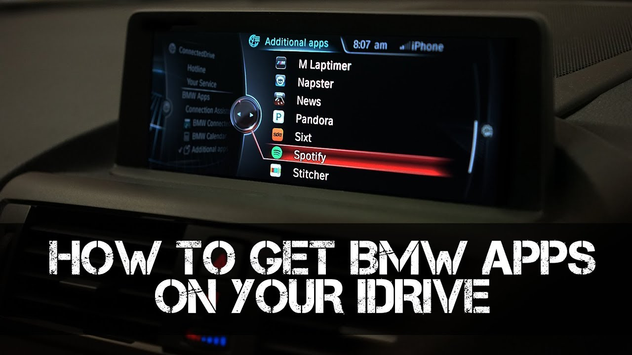 how to code and retrofit bmw apps to your idrive system [ 1280 x 720 Pixel ]