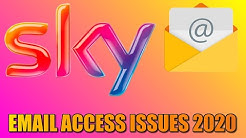 Sky Email App Access Problems 2020