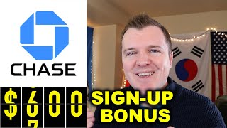 $600 Chase Bank Checking & Savings Sign Up Bonus