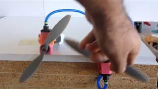 Moteurs à air comprimé Monocylindre et Bicylindre imprimés 3D