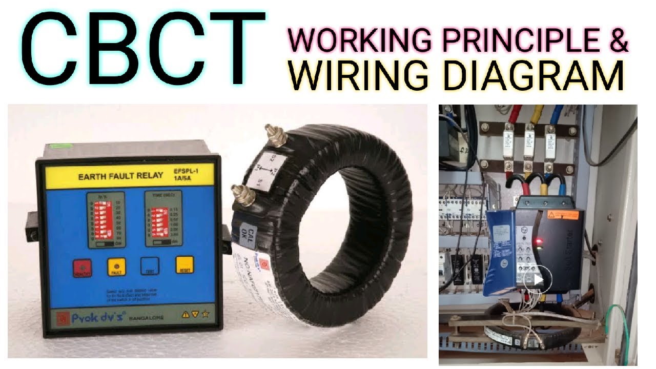 Cbct Or Core Balance Current Transformer Working Principle With Wiring Diagram