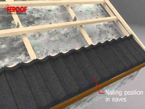 Stone Chip Coated Steel Roof Tiles Youtube