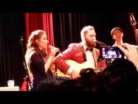 Jason Manns singing Baby It's Cold Outside w Mandy Musgrave