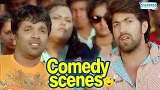 Drama Comedy Scenes - Kannada Comedy - Yash, Radhika Pandith