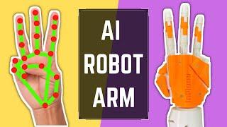 AI ROBOT ARM using Python Arduino OpenCV CVZone | Computer Vision