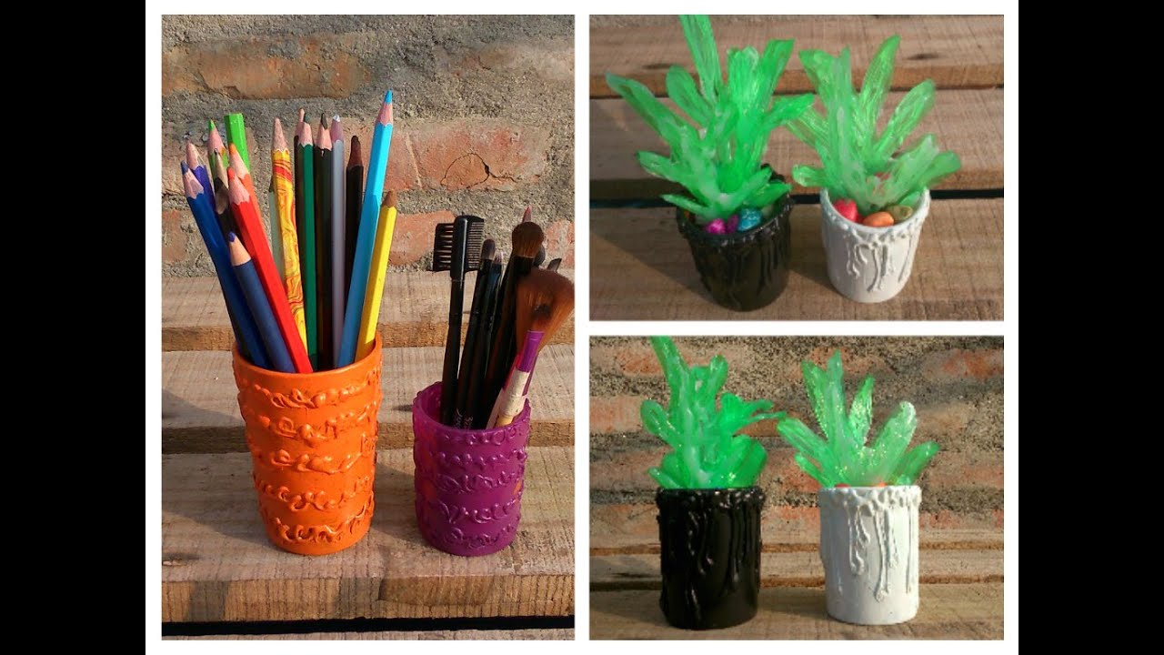 Recycled bottle planters diy recycled - Diy Mini Plant And Holder Room Decor And Organizer Recycle Plastic Bottle Youtube