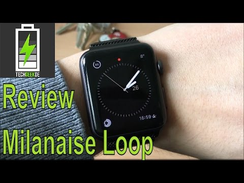 Review Apple Watch Milanaise Loop Armband von JETech 2016 Deutsch