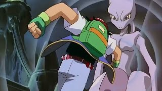 Ash punches Mewtwo