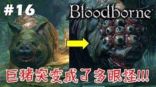 巨猪突变成了多眼怪!!! [Bloodborne 血源诅咒] #16