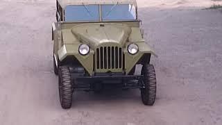 Уникальный автомобиль ГАЗ 67 Б летним вечером