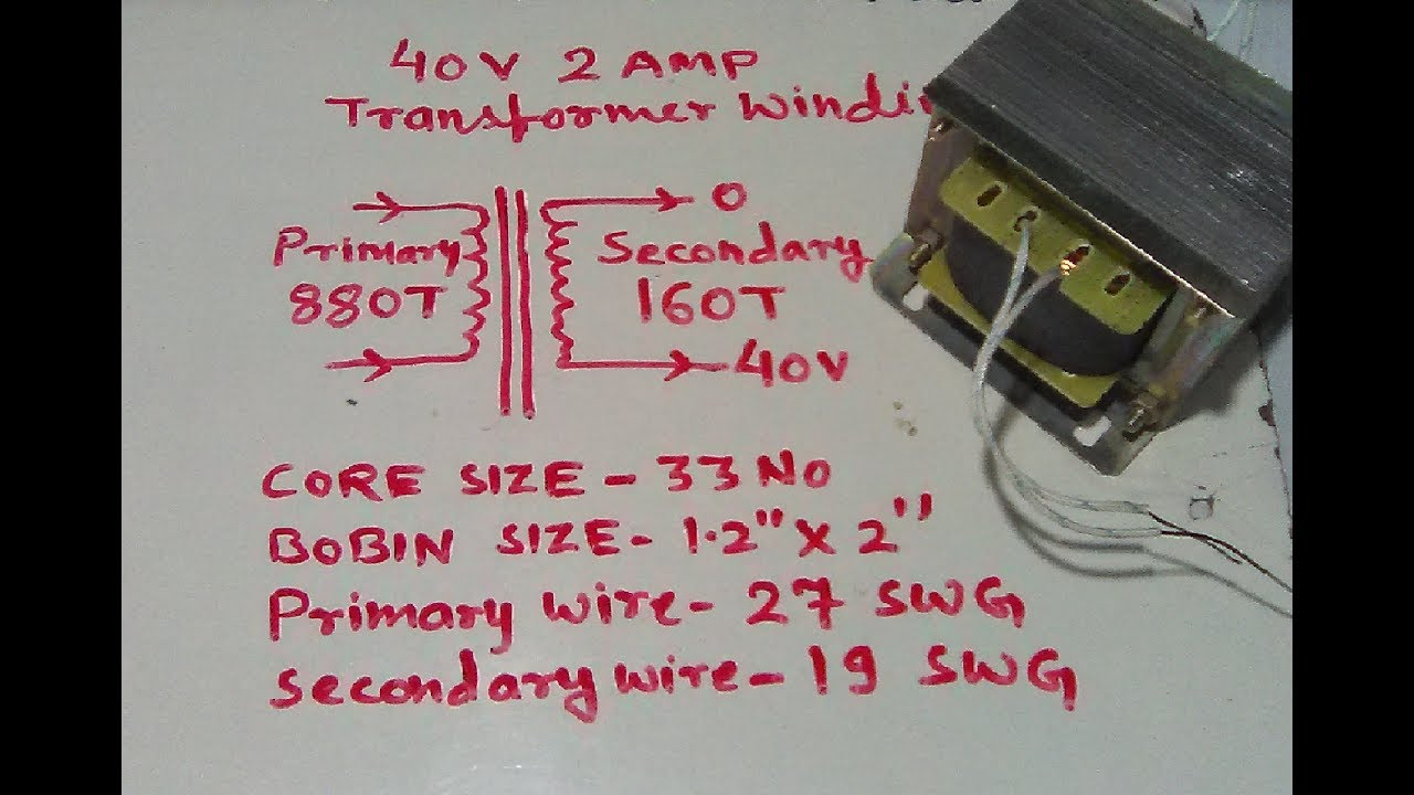 335 Wiring Diagram How To Make 40 Volt 2 Amp Transformer Easy At Home Yt 54