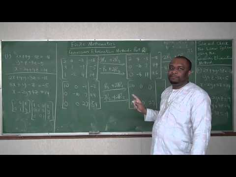 Solution of Linear Systems by Gaussian Elimination Method - Part 2
