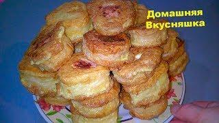 Рецепт Сосиска в Вафлях в картофельном пюре/Вкусная горячая закуска.